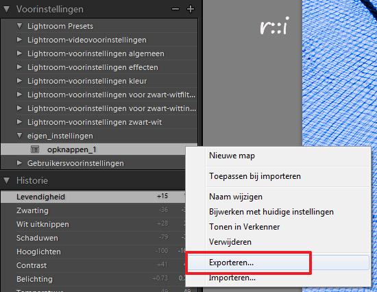 preset_exporteren1